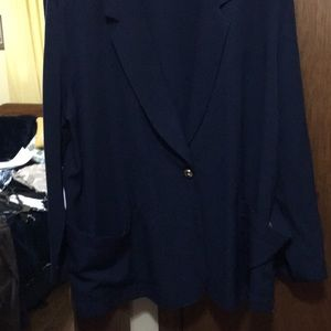 Navy jacket for pants or skirts